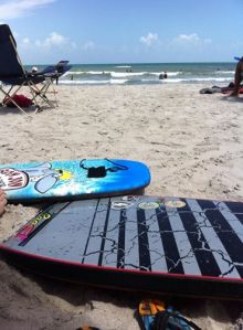 Boogie Boards at Cocoa Beach http://whomerun.com