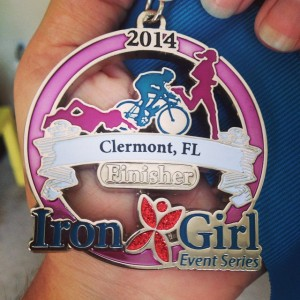 Iron Girl Tri Clermont medal - http://whomerun.com